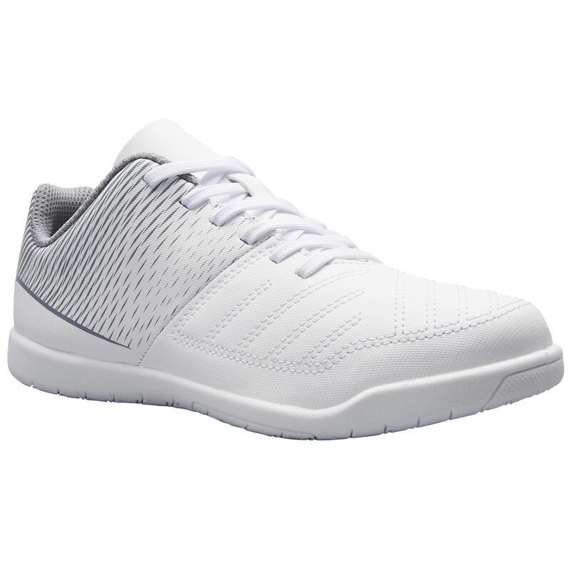 Chaussures de Futsal enfant Futsal 100 blanc glacier