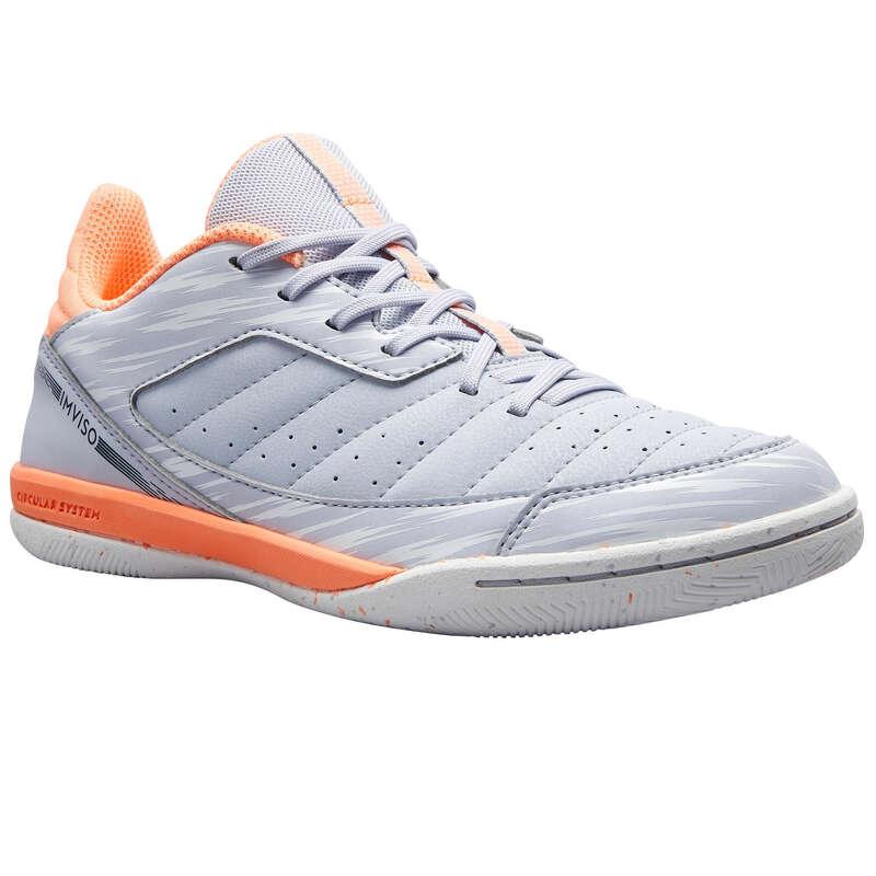 Buty halowe dla dzieci Piłka nożna - ESKUDO 500 Futsal JR koral IMVISO - Buty piłkarskie