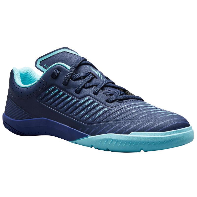Chaussures de Futsal enfant GINKA 500 bleu vert