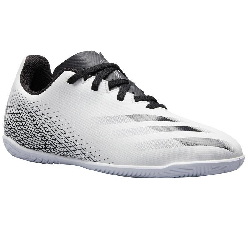 Kids' Futsal Trainers X4 - White/Black