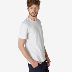 T-Shirt 500 Homme Blanc Glacier avec Motif