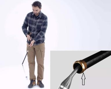 déploiement bâton de trek 3 brins ultra compact