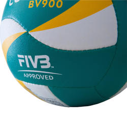 Bal voor beachvolley BV900 FIVB groen/geel