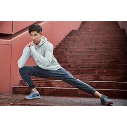 男款慢跑長褲RUN WARM+灰色
