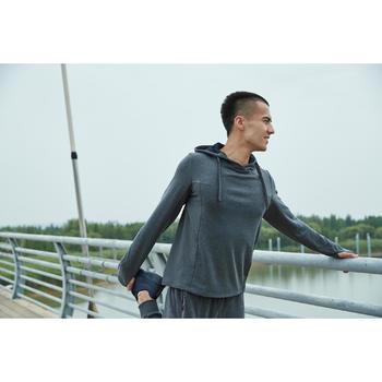 Sweat capuche jogging homme RUN WARM+ gris