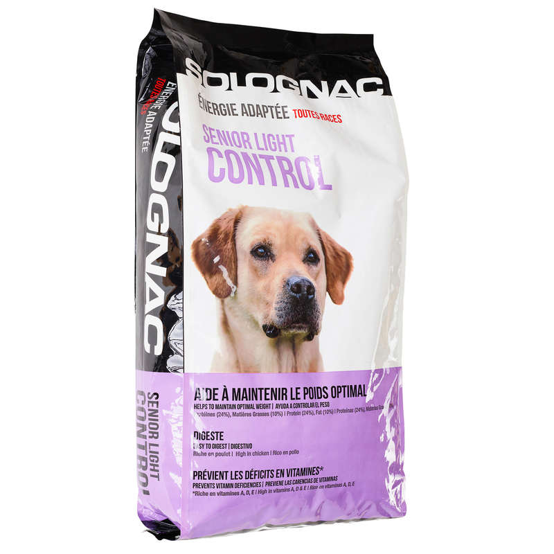 HUNDFODER Jakt och Hundsport - SENIOR LIGHT CONTROL 12 kg SOLOGNAC - Hundsport