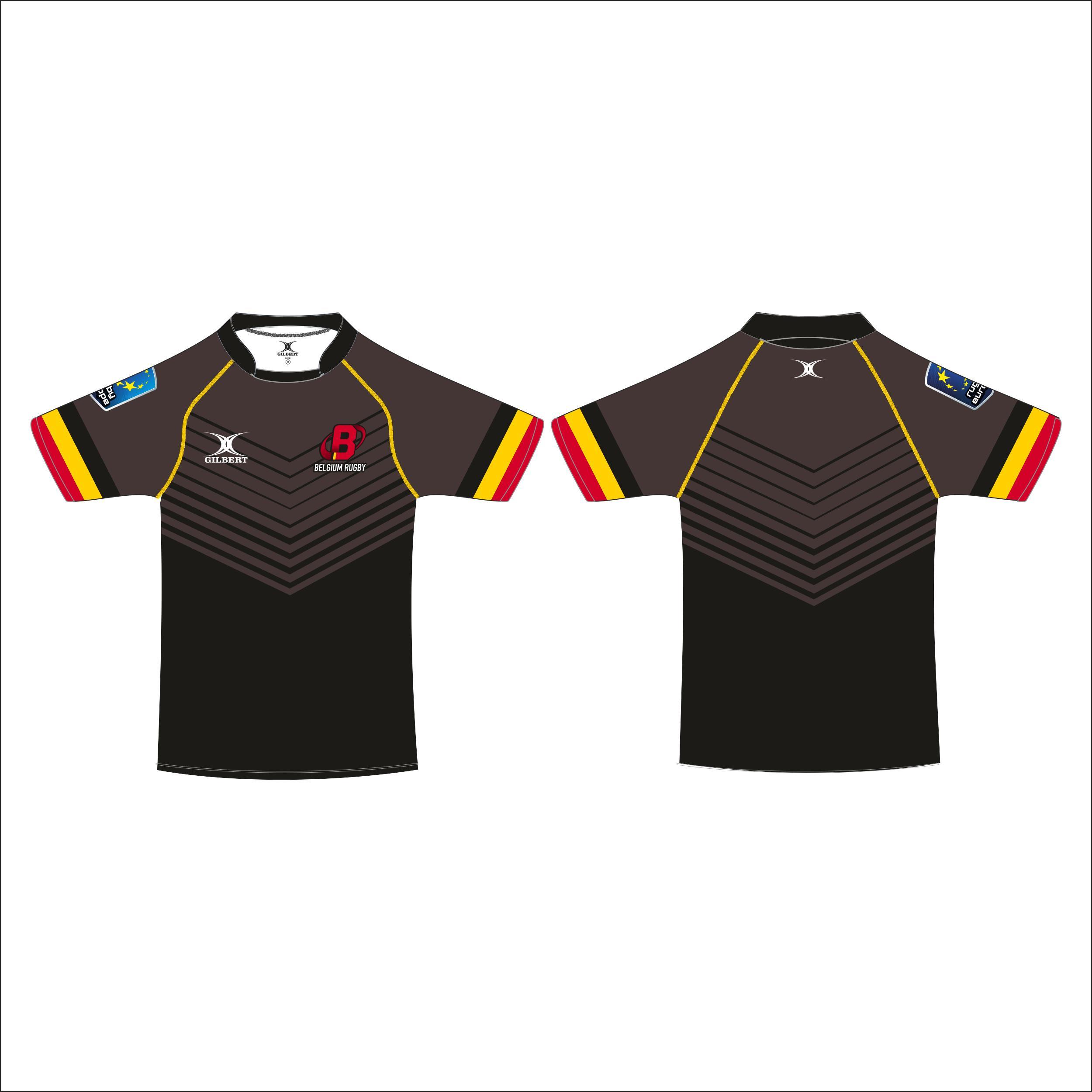Gilbert Maillot réplique Rugby belge junior
