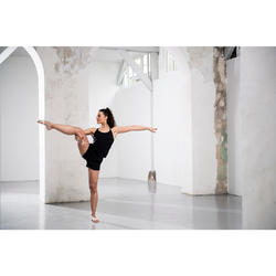 Soepel damestopje voor moderne dans zwart