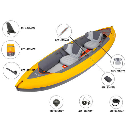 X100+ INFLATABLE HIGH-PRESSURE DROPSTITCH FLOOR 2-PERSON TOURING KAYAK