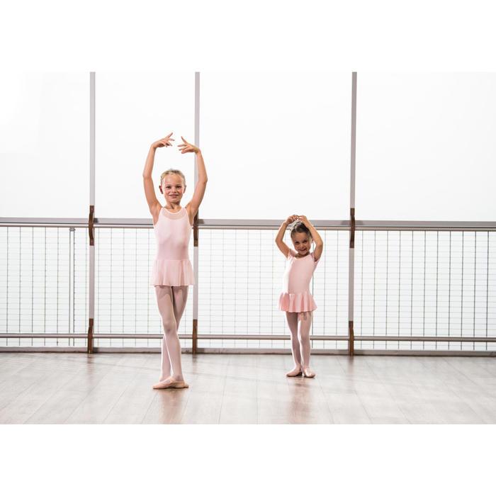 Tunika Ballett Bi-Material Mädchen rosa