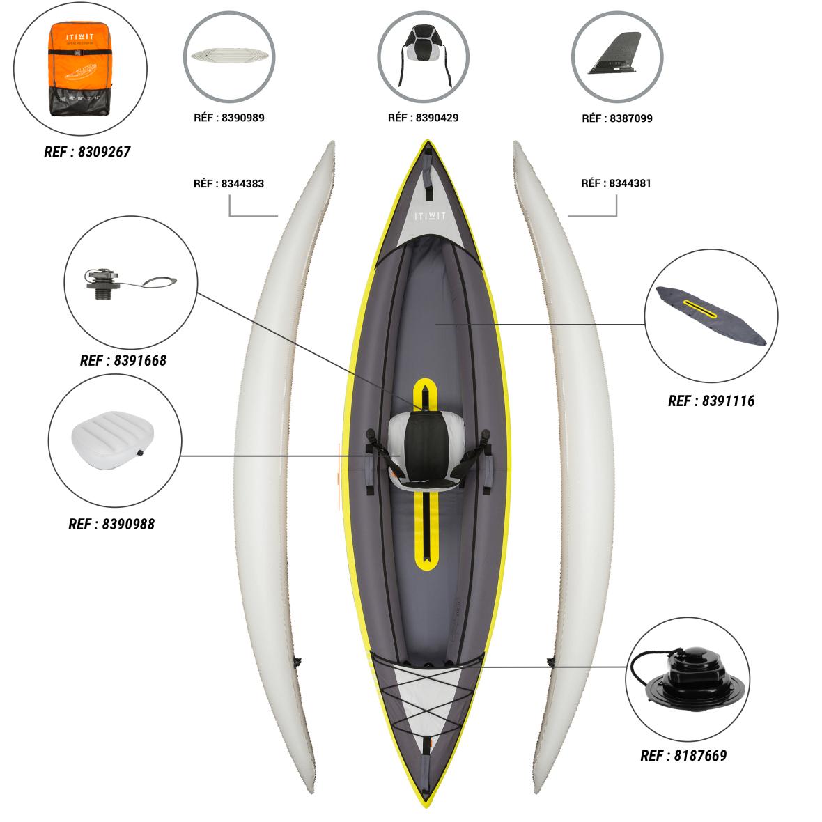Pièces détachées kayak Itiwit 1