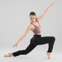 Sporttopje voor moderne dans dames donkerroze