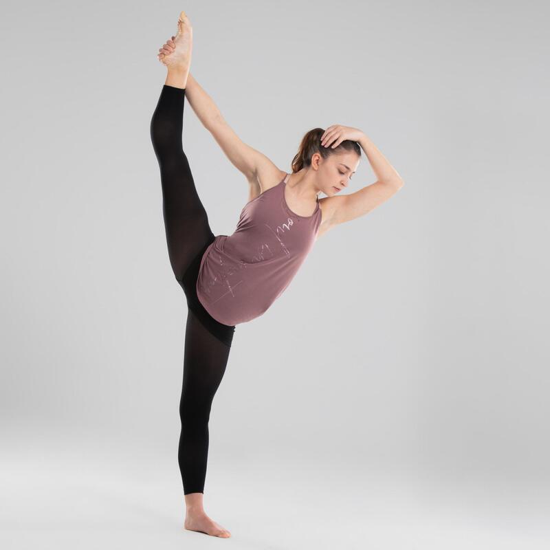 Women's Flowing Modern Dance Tank Top - Dark Pink