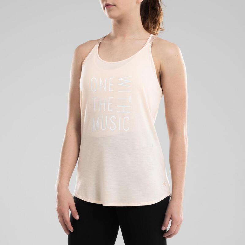 Women's Loose Modern Dance Tank Top - Beige