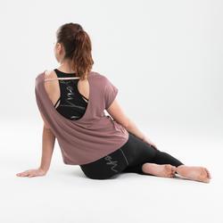 T-shirt danse moderne rose foncé fluide femme