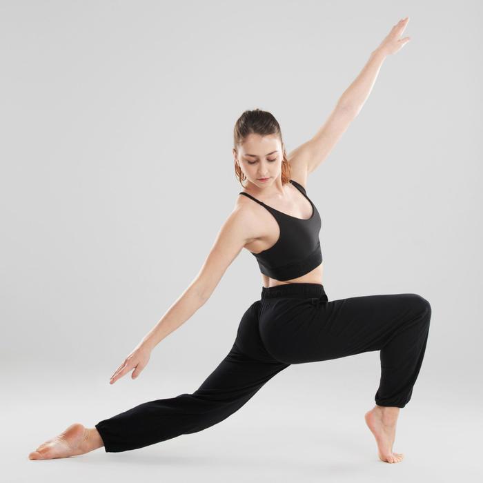 Pantalon danse moderne noir ajustable femme