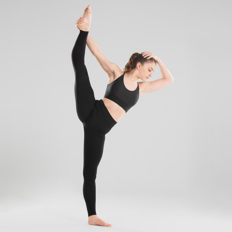 Women's Modern Dance Sports Bra - Black