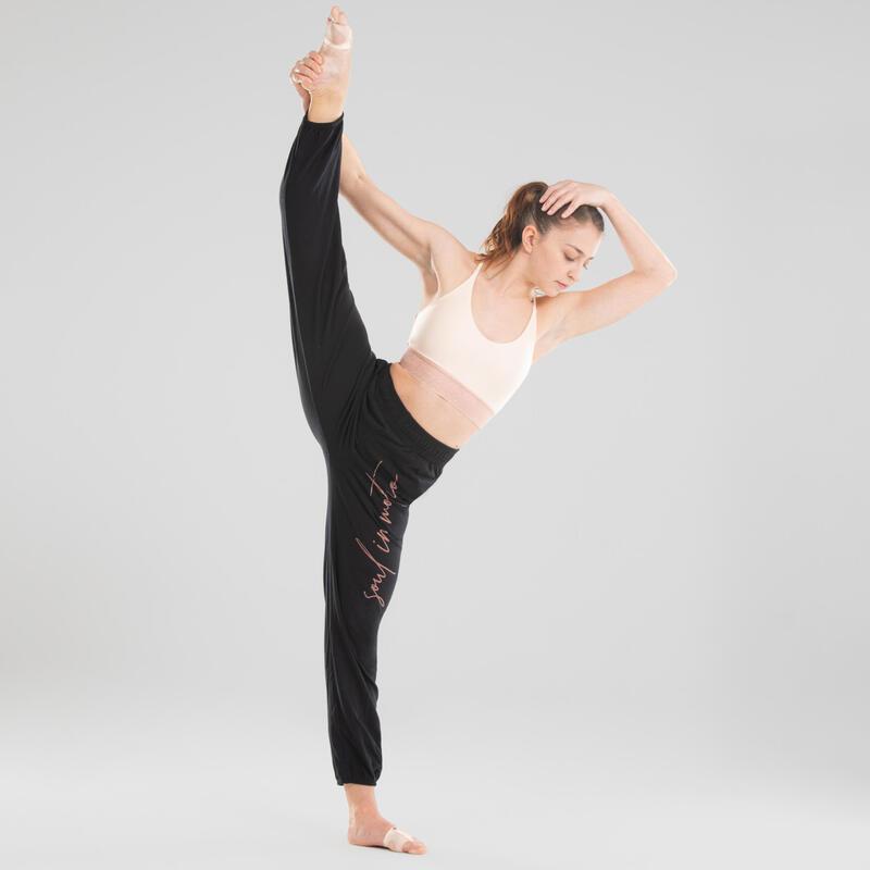 Women's Modern Dance Bra - Beige