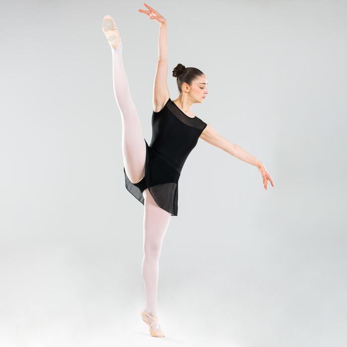 Ballettrock Tüll Damen schwarz