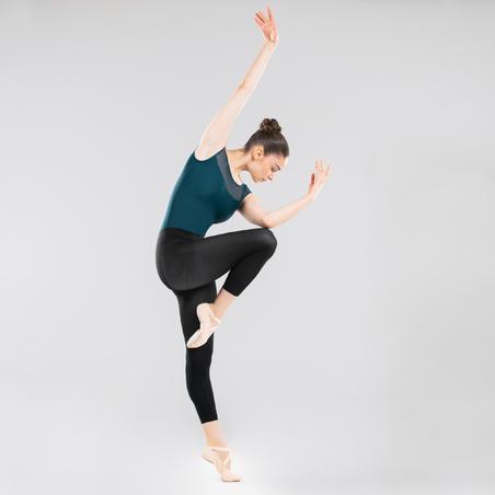 Mixed Media Short-Sleeved Ballet Leotard – Women