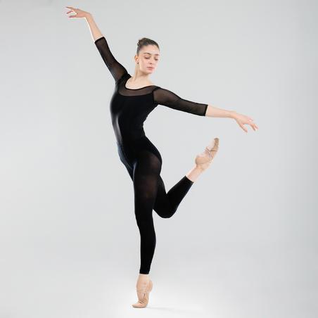 Léotard de danse classique à manches longues noir – Femmes