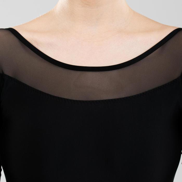 Balletpakje met lange mouwen voor dames zwart