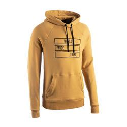 Hoodie voor streetdance geel met print