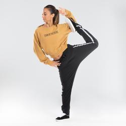 Sweat crop danses urbaines jaune femme