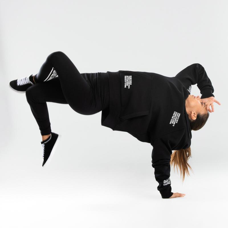 Legging danses urbaines noir taille haute femme
