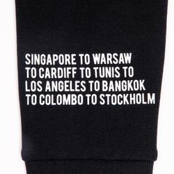 Hoodie voor streetdance zwart met print