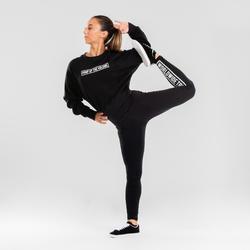 Sweat crop danses urbaines noir à imprimés femme
