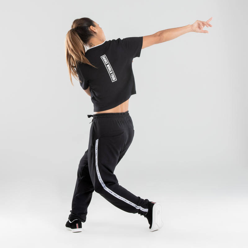 Crop top danses urbaines noir femme