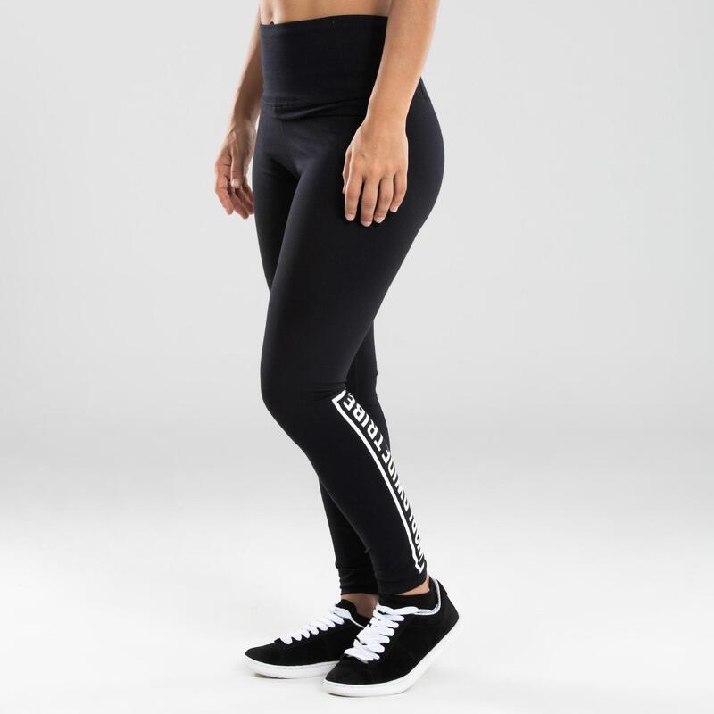 Women's High-Waisted Urban Dance Leggings - Black