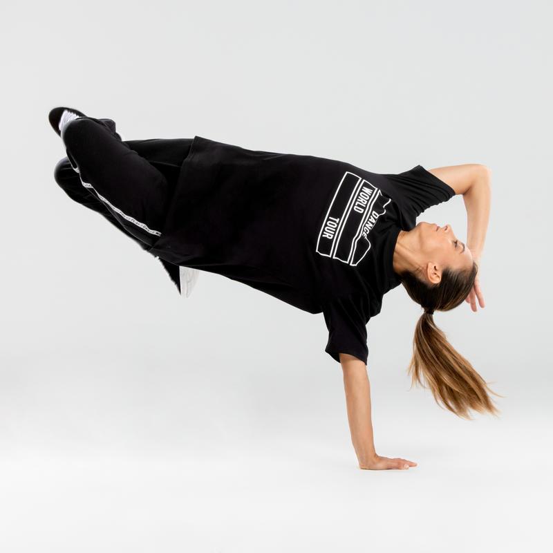 T-shirt danses urbaines noir à motif homme