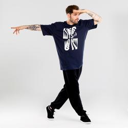 T-shirt danses urbaines bleu marine à graphismes homme