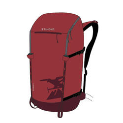 22-litre mountaineering backpack ALPINISM 22 - BURGUNDY