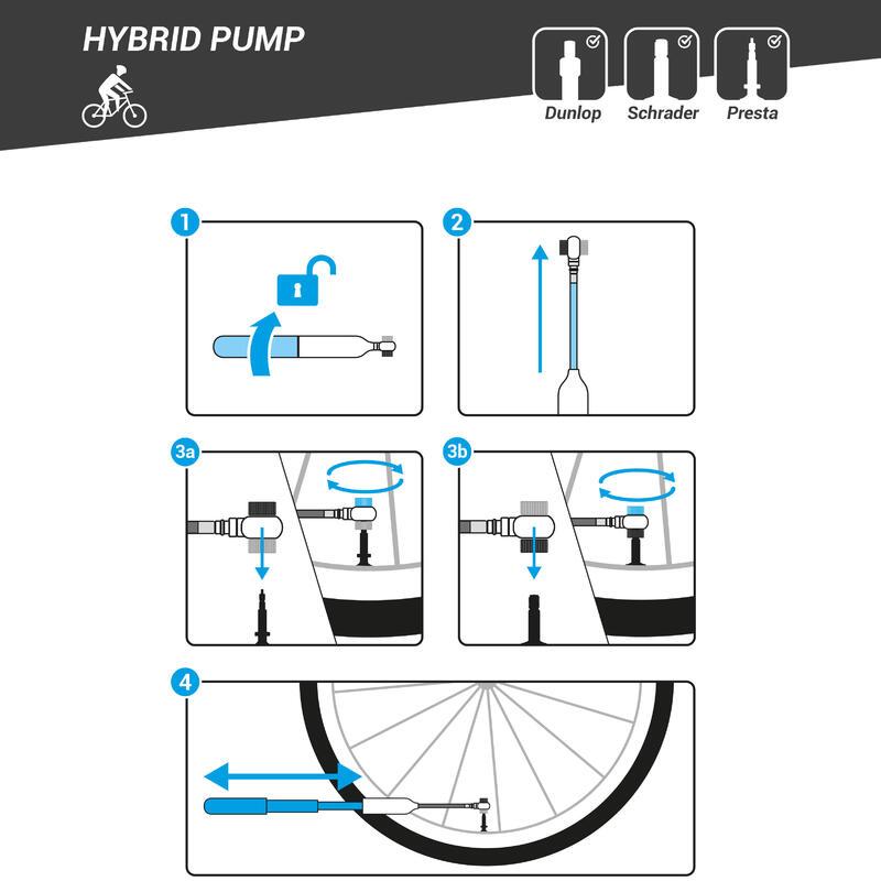 Hybrid Bike Hand Pump - Black