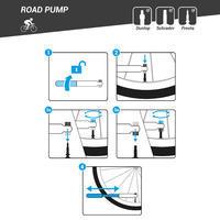 Pompe à main compacte pour vélo de route