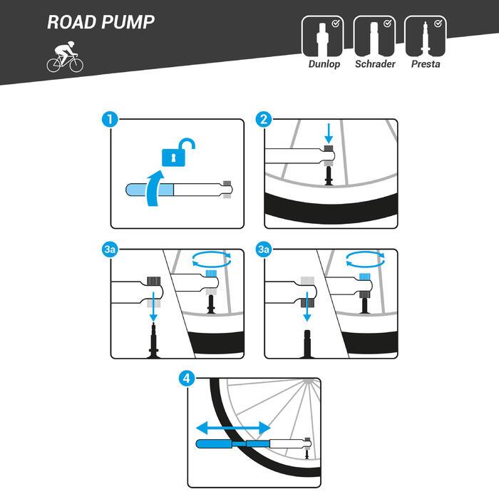 Compact Road Hand Pump - Black