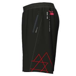 Eco-Friendly Fitness Training Shorts - Black Print