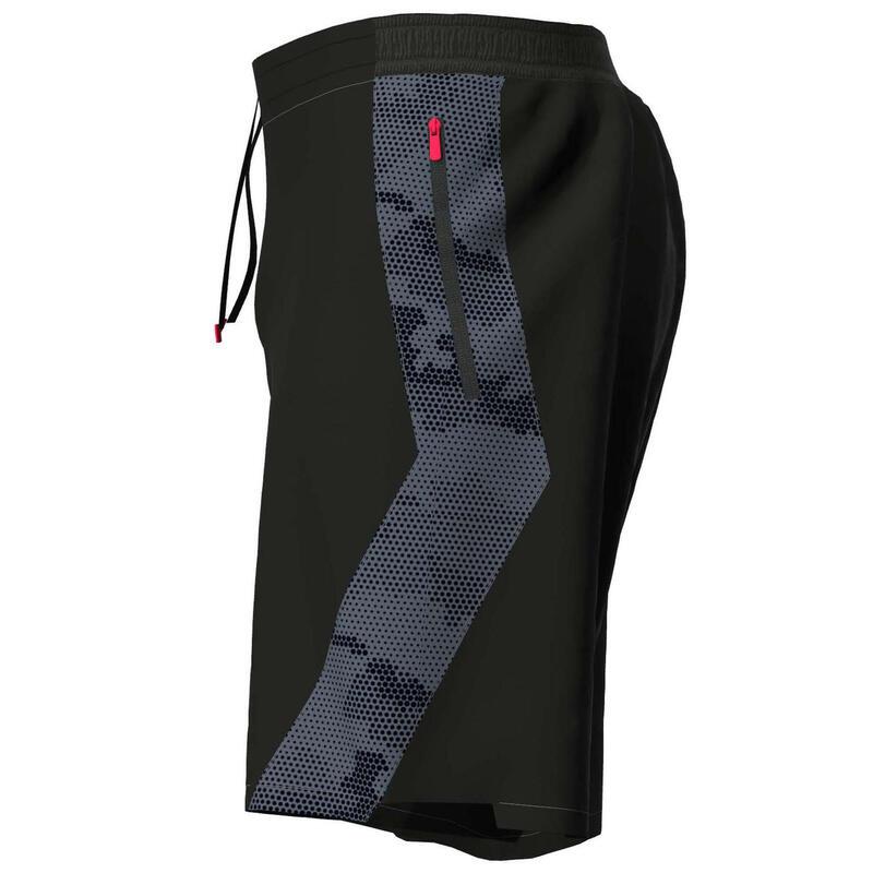 健身訓練短褲 - 印花灰色