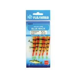 Vorfach Meeresangeln Blue Mack Haken 1/0 gelb u. rot