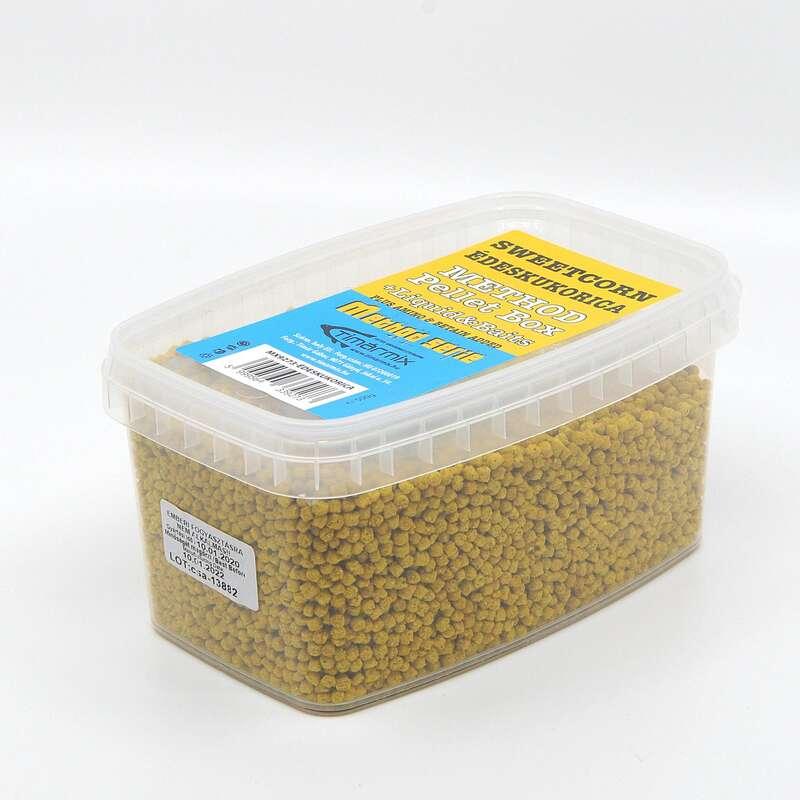 ETET#ANYAGOK, CSALIK FEEDER & MATCHBOTOS Horgászsport - Pellet box sweet corn, 500 g TIMÁR - Finomszerelékes horgászat