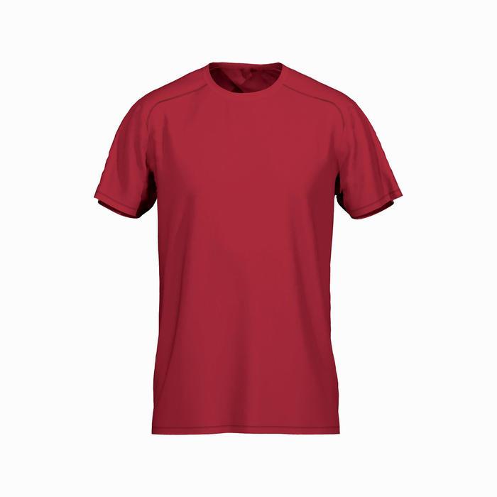 Technisch shirt voor fitness gemêleerd rood