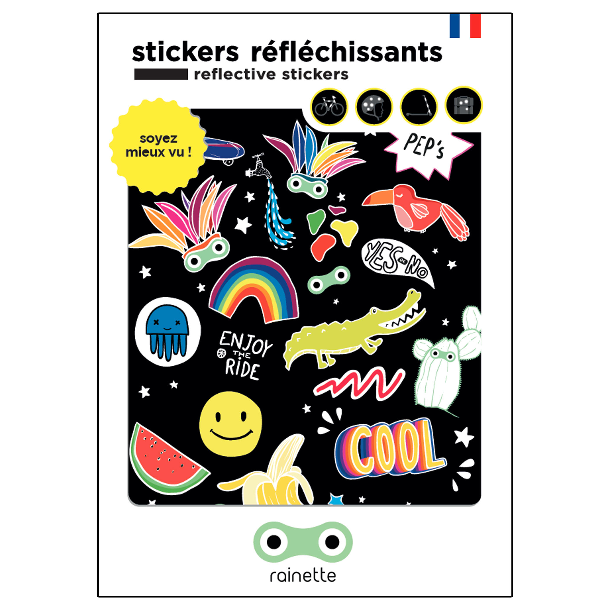 Stickere reflectorizante