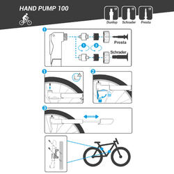 Handpomp 100 zwart