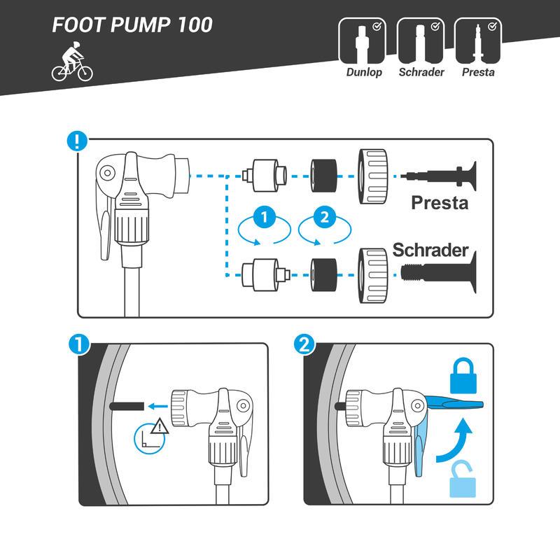 Floor Bike Pump 100