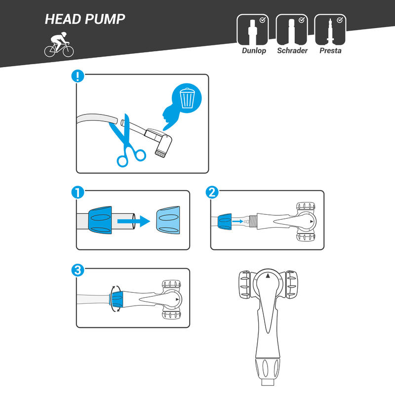 Universal Floor Pump Head