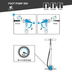 Fietspomp 900 vloerpomp fluogeel