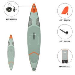 """充氣式旅行立式划槳板X500 Tandem / 15""""到35' -綠色"""